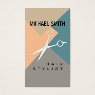 Hair Stylist Appointment Retro Color Pattern #11 Business Card