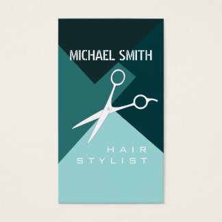 Hair Stylist Appointment Retro Color Pattern #17 Business Card