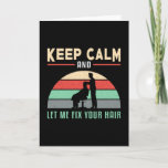Hair Stylist Barber Hairdresser Keep Calm Gift Card