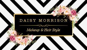 Hair stylist business cards zazzle hair stylist beauty salon gold vintage floral business card colourmoves