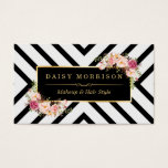 """Hair Stylist Beauty Salon Gold Vintage Floral Business Card<br><div class=""""desc"""">Make a great impression with this stylish &quot;Abstract Striped Lines Gold Vintage Floral&quot; Business Card template. Create yours today! (1) For further customization, please click the &quot;Customize&quot; button and use our design tool to modify this template. All text style, colors, sizes can be modified to fit your needs. (2) If...</div>"""