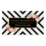 Hair Stylist Beauty Salon Gold Vintage Floral Double-Sided Standard Business Cards (Pack Of 100)