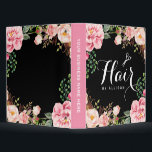 """Hair Stylist Beauty Salon Romantic Pink Floral Binder<br><div class=""""desc"""">================= ABOUT THIS DESIGN ================= Hair Stylist Beauty Salon Romantic Pink Floral Binder. (1) All text style, colors, sizes can also be modified to fit your needs. (2) If you need any customization or matching items, please contact me. (3) You can find matching products (e.g. Business Card, Appointment Card, Flyer,...</div>"""