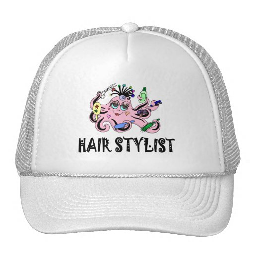 Hair Stylist Black and Pink Octopus Hat
