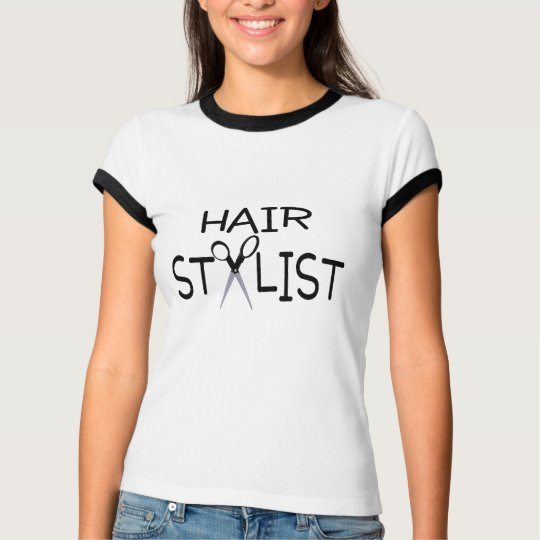 Hair Stylist Black With Scissors T-Shirt