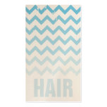 Hair Stylist Business Card - Cracked Blue Ombre