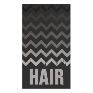 Hair Stylist Business Card - Cracked Gray Ombre