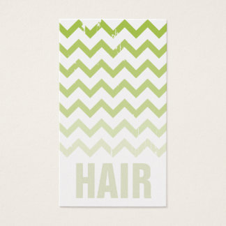 Hair Stylist Business Card - Cracked Green Ombre