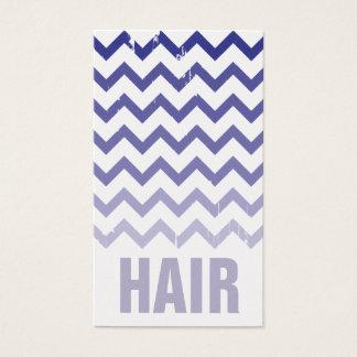 Hair Stylist Business Card - Cracked Indigo Ombre