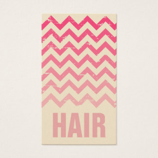 Hair Stylist Business Card - Cracked Pink Ombre