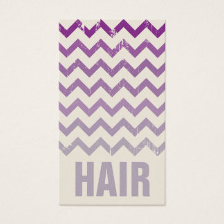 Hair Stylist Business Card - Cracked Purple Ombre