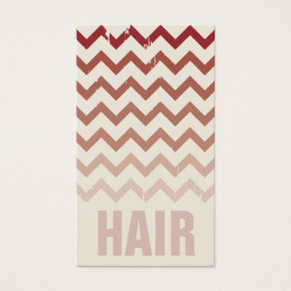 Hair Stylist Business Card - Cracked Red Ombre