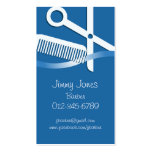 Hair Stylist Business Card Scissors And Comb