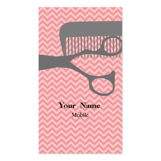 Hair stylist double sided standard business cards pack of for Salon business card templates