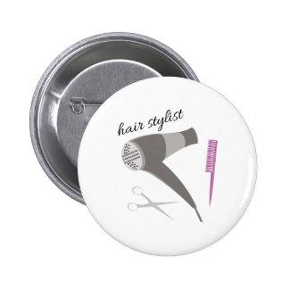 Hair Stylist Pinback Buttons