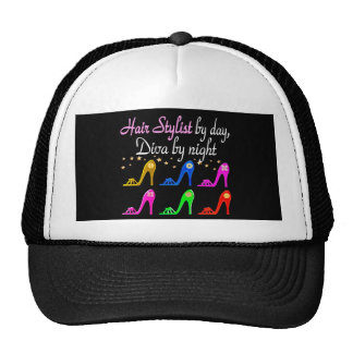 HAIR STYLIST BY DAY DIVA BY NIGHT TRUCKER HAT