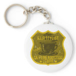 Hair Stylist Caffeine Addiction League Keychain