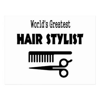 Hair Stylist Card Postcard