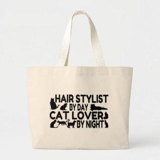 Hair Stylist Cat Lover Jumbo Tote Bag