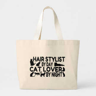 Hair Stylist Cat Lover Large Tote Bag