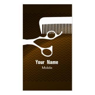Hair Stylist Chevron Brown Business Card