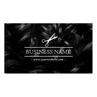 Hair Stylist Chic Curly Hair & Scissor Business Card