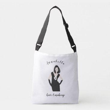 Professional Business Hair Stylist Chic Trendy Pose Fashion Model Crossbody Bag