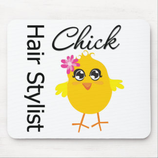 Hair Stylist Chick Mousepads