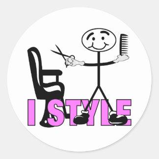 Hair Stylist Classic Round Sticker