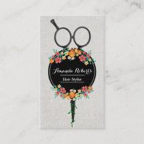 Hair Stylist Classy Scissor & Flowers Appointment