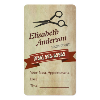 Hair Stylist - Creative Retro Appointment Card Business Cards
