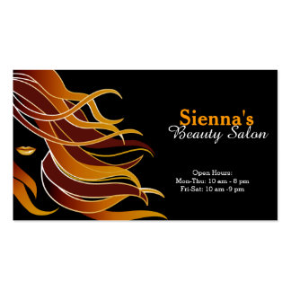 Hair stylist Double-Sided standard business cards (Pack of 100)