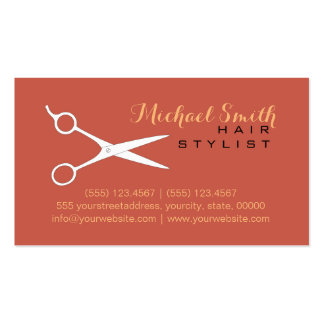 Hair Stylist Elegant Cedar Chest Background #2 Business Card
