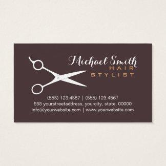 Hair Stylist Elegant Dark Puce Background #2 Business Card
