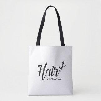 Hair Stylist Elegant Script Hair Salon Tote Bag