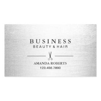 Hair Stylist Elegant Silver Salon Appointment Business Card