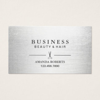 Hair Stylist Elegant Silver Salon Appointment Business Card