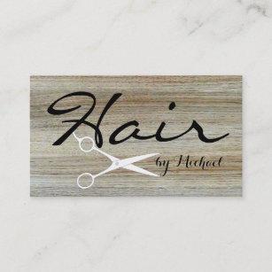 Wood grain business cards templates zazzle hair stylist elegant wood grain background 4 business card reheart Choice Image