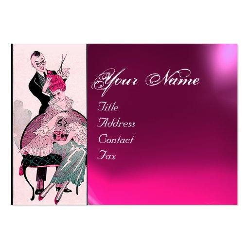 Hair Stylist Fashion Beauty Salon Make Up Artist Large Business Cards Pack Of 100 Zazzle