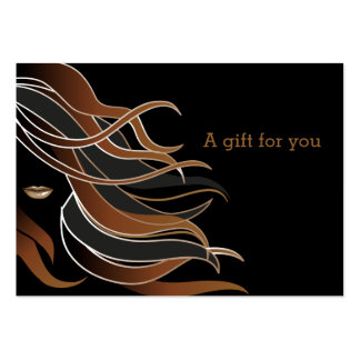 Hair stylist Gift Certificate Large Business Card