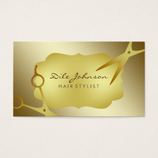Hair Stylist Gold Glitter Saloon Professional Business Card