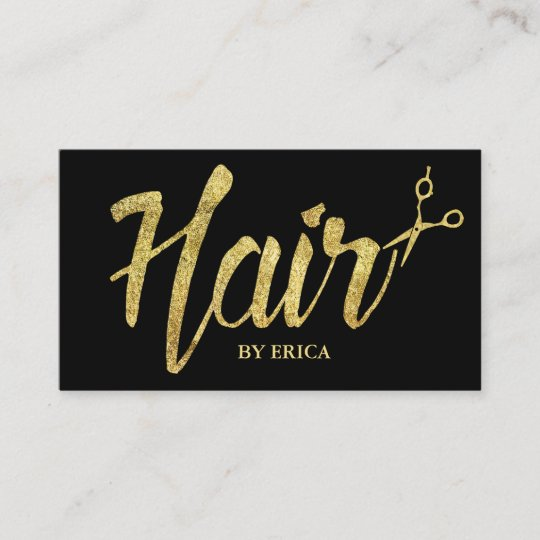 hair stylist gold typography modern elegant salon business card - Hair Salon Business Cards