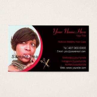 Hair Stylist - Hair Dresser - Photo - Appointment Business Card