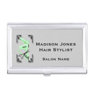 Hair Stylist Hair Dryer Curling Iron Scissors Business Card Case