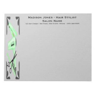Hair Stylist Hair Dryer Curling Iron Scissors Notepad