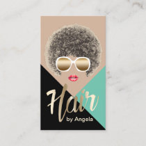 Hair Stylist | Hair Salon | Beauty Girl Modern Business Card