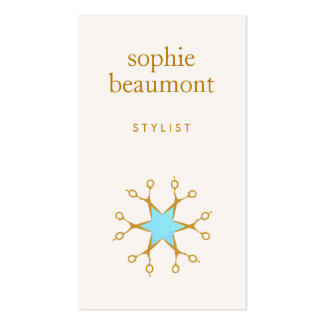 Hair Stylist, Hair Salon, Scissors Logo 2 Business Card Templates