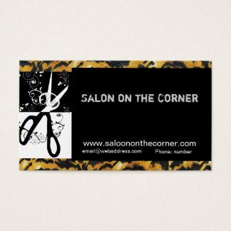 Hair Stylist Hairdresser Trendy  Scissors Swills Business Card