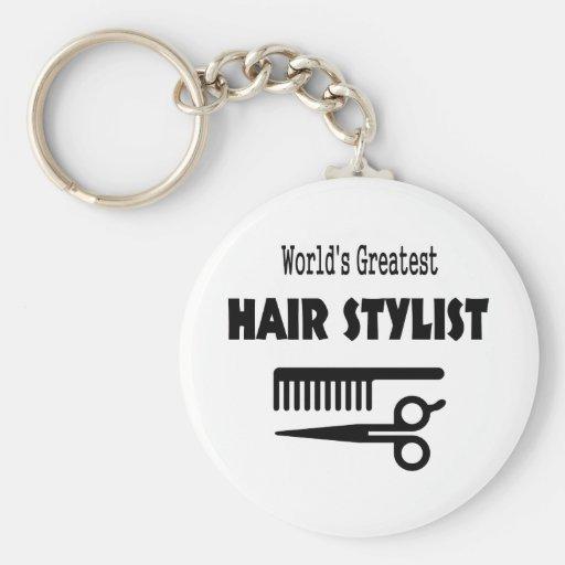 Hair Stylist Keyring Key Chains