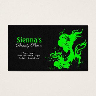 Hair Stylist (Lime) Business Card